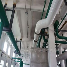 管道外护彩钢铁皮保温施工