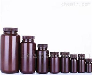 高密度聚乙烯(HDPE)棕色广口试剂瓶