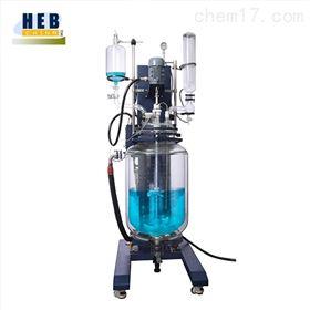 自動升降100L雙層玻璃反應釜SJHEB-100L
