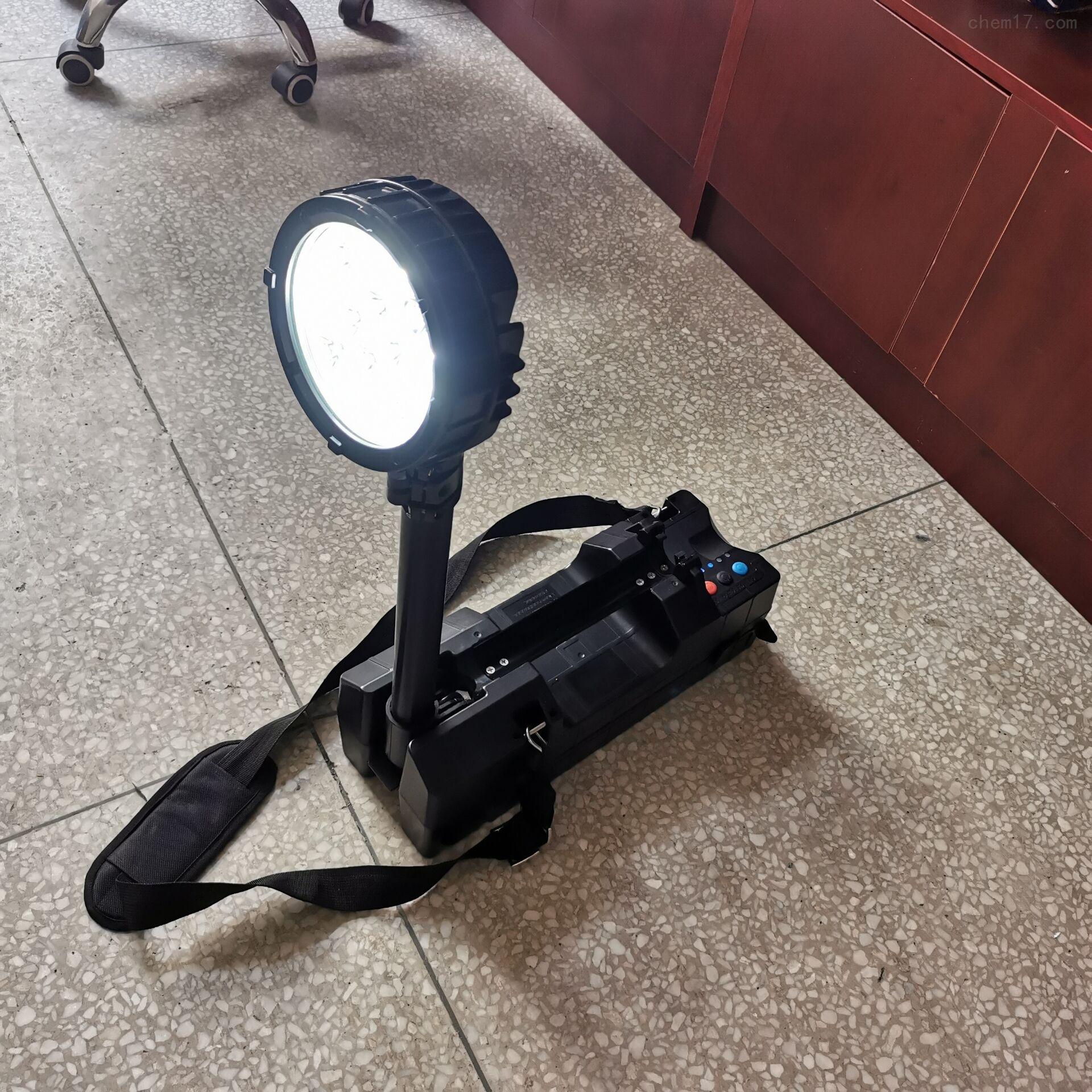 可移动工作灯50W充电式LED红蓝警示灯IP65