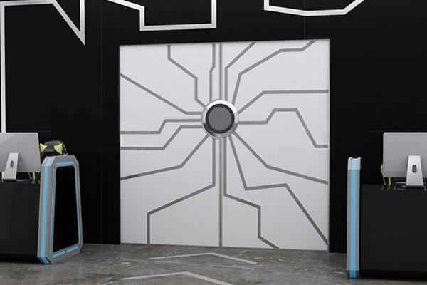高科技办公室门