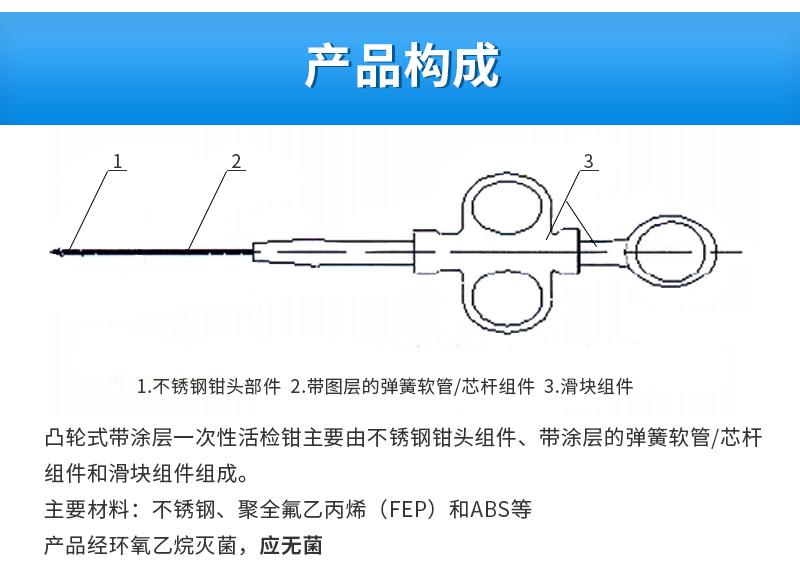 南京微创一次内窥镜活体取样钳产品结构说明