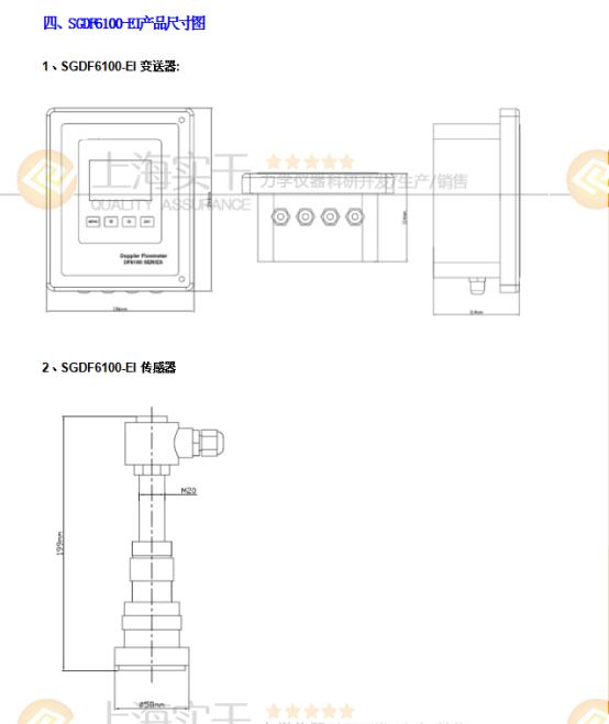SGDF6100-EI多普勒管插入式超聲波流量計