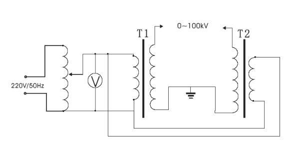 绝缘油介电强度测试仪工作原理图