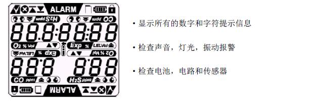气体检测仪执行自检