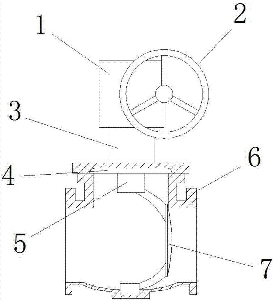 硬密封偏心半球阀结构图