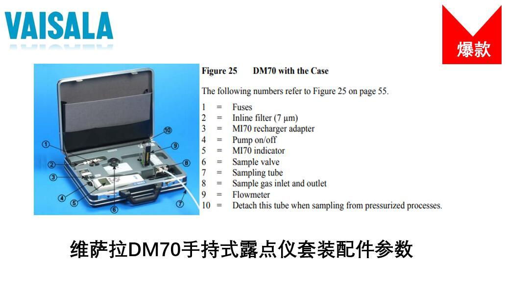 DM70露点仪配件表
