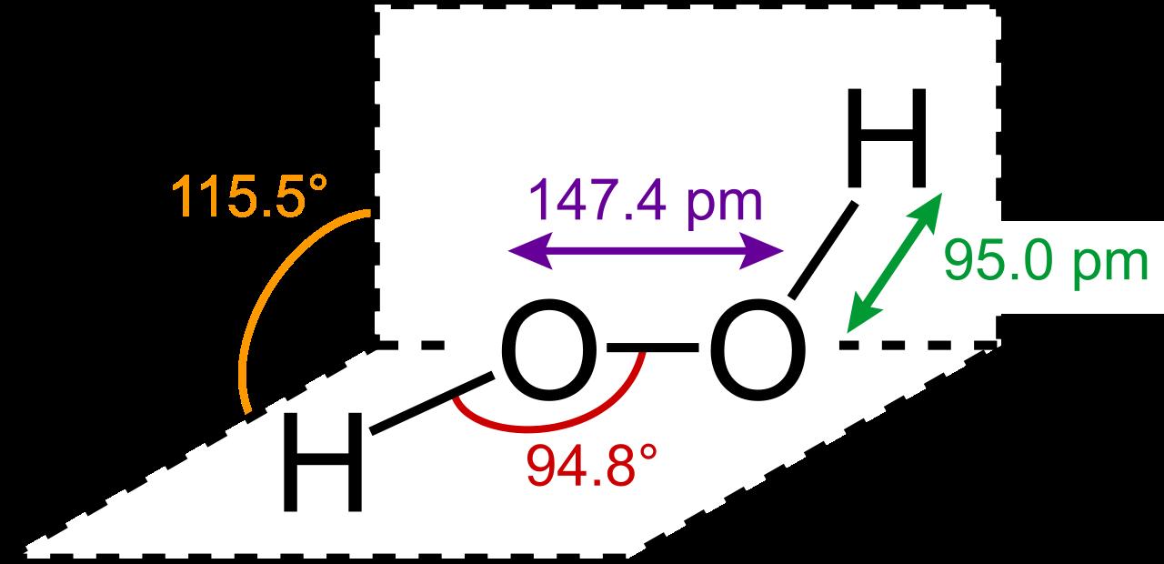 H2O2分子结构