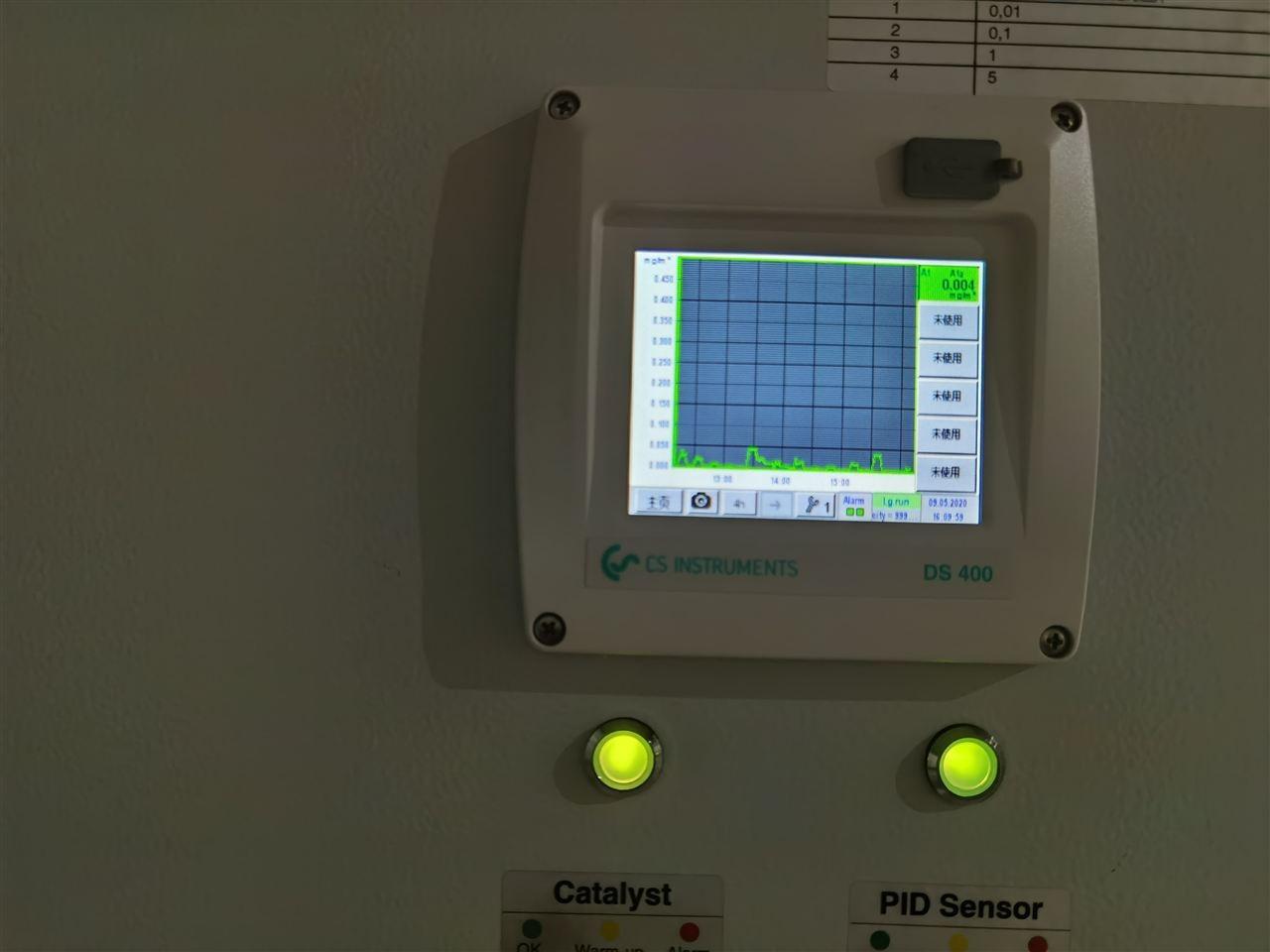 压缩空气残油量检测